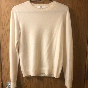 Uniqlo Cashmere Crewneck While Sweater